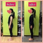 【お客様のトレーニング報告】女性、痩せ型タイプの姿勢改善は一気に見た目年齢が若くなります!